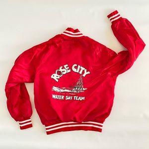 Vintage 80s Portland OR Rose City Water Ski Jacket